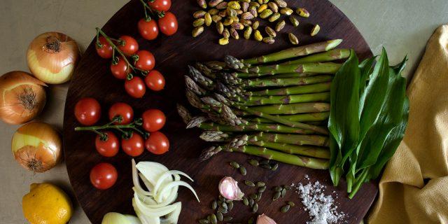 Dairy-free Asparagus Tart Ingredients